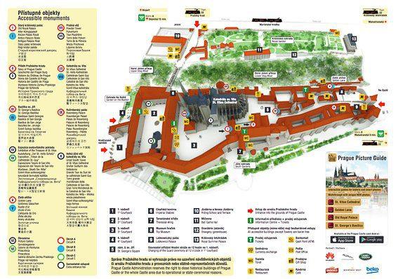 mapa del castillo de praga en español